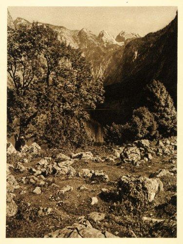 1924-obersee-lake-konigsee-bavaria-rothback-germany-original-photogravure