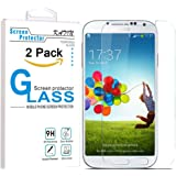Galaxy S4 Screen Protector - KATIN [2-Pack] Sasmung Galaxy S4 / i9500 Premium 9H Tempered Glass [ 2.5D Round Edge 3D Touch Compatible ] with Lifetime Replacement Warranty