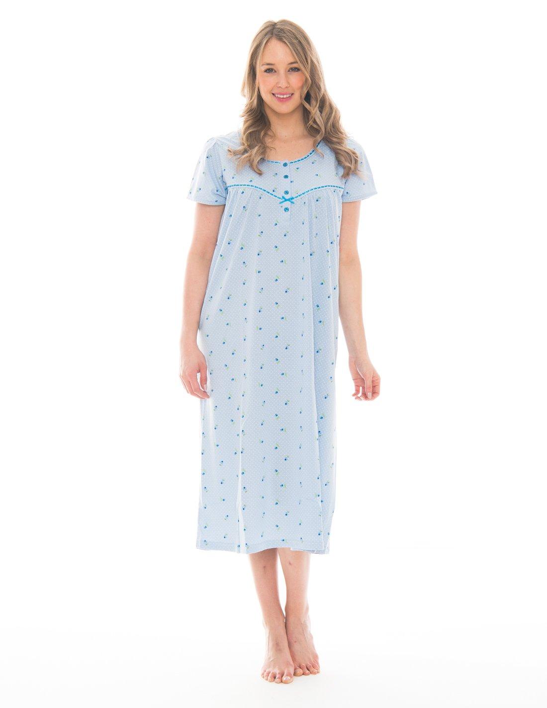 Pink Lady Women's Soft Short Sleeve Full Length Nightgown CKC_PLC_414-Parent