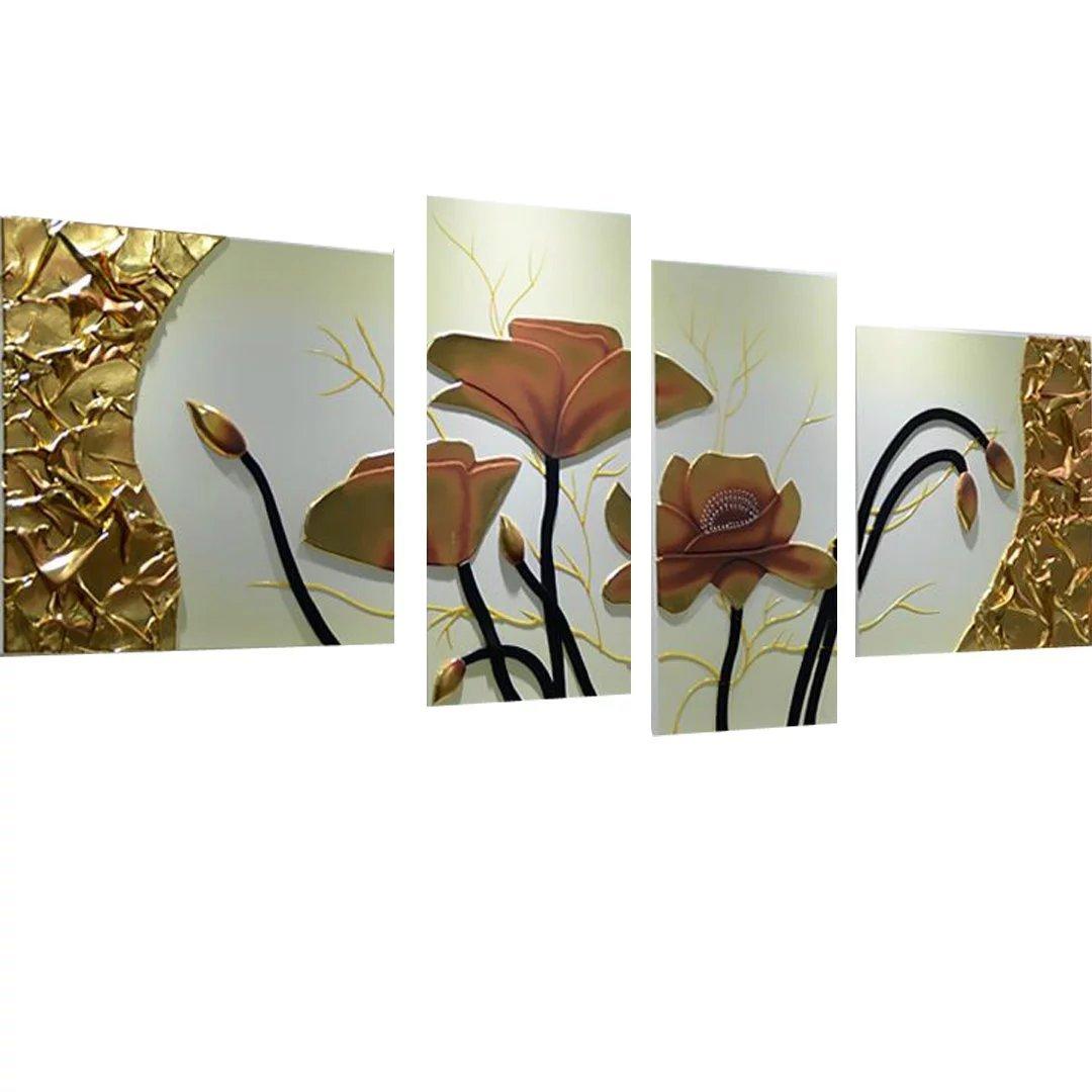 抽象画 複合画 絵画 アートパネル 壁掛け画 壁掛け絵画 蓮の花 手描きアート 店舗 事務所 装飾用 鮮やかなコントラスト ルノワール 細工 花柄 和柄 お洒落な 記念品 贈答品 立体 B01KO3R5QY