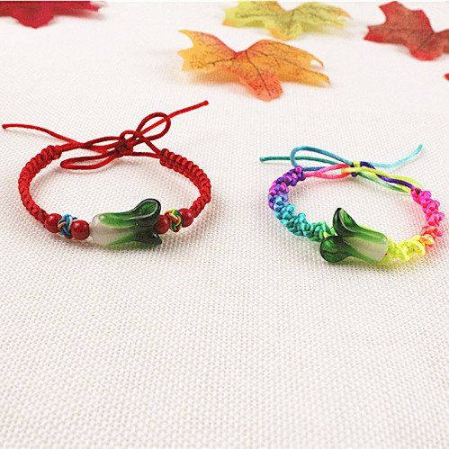 - May Festival Dragon Boat Festival multicolored glass rope cabbage Bracelet couple of students hand made handmade colored bracelets