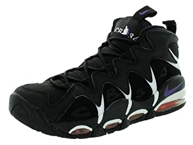 854905aae2d2 Nike Mens Air Max CB34 Black Club Purple Tm Orng Blk Basketball Shoe