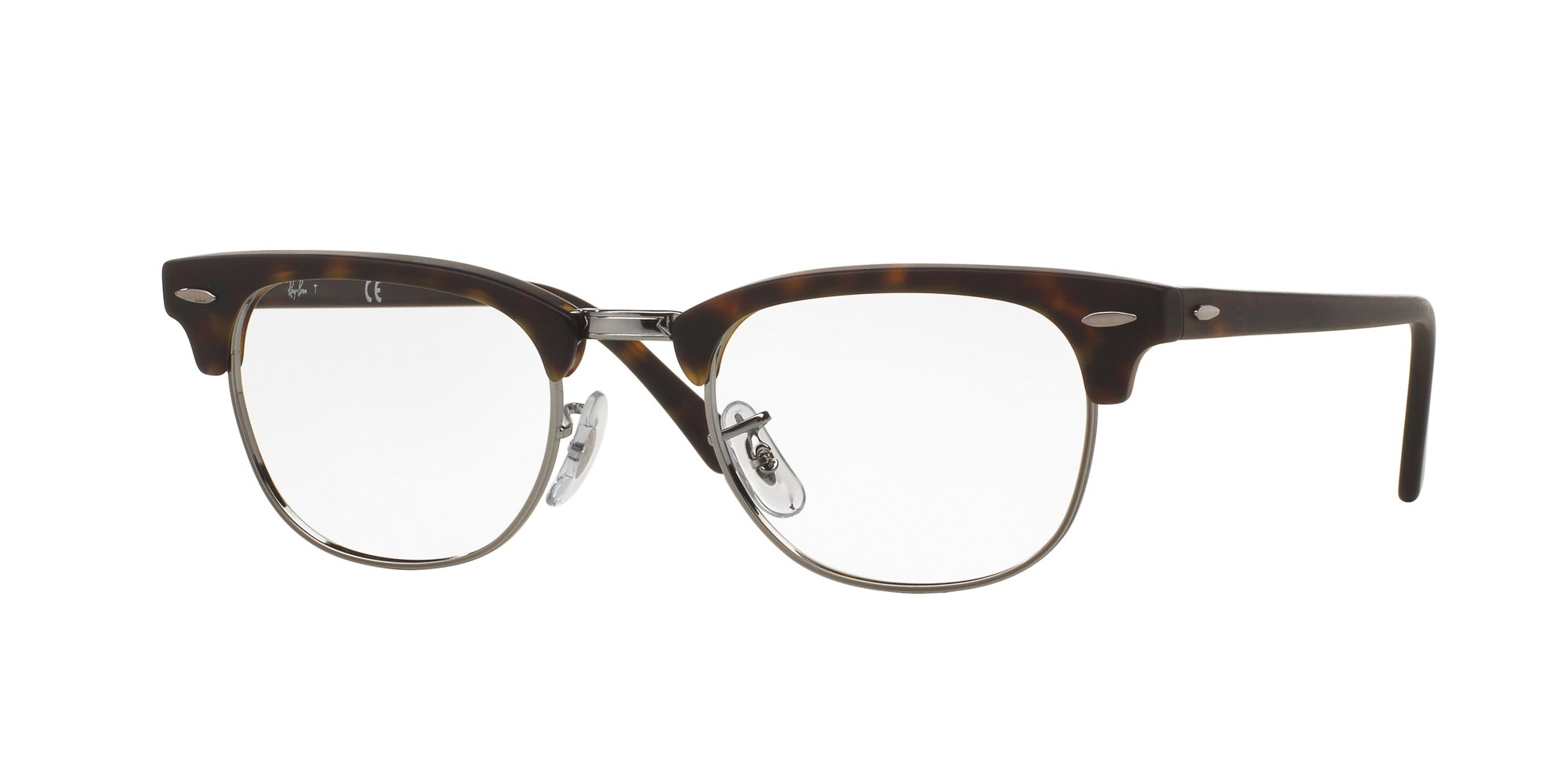 Ray-Ban Unisex RX5154 Clubmaster Eyeglasses Matte Dark Havana 49mm