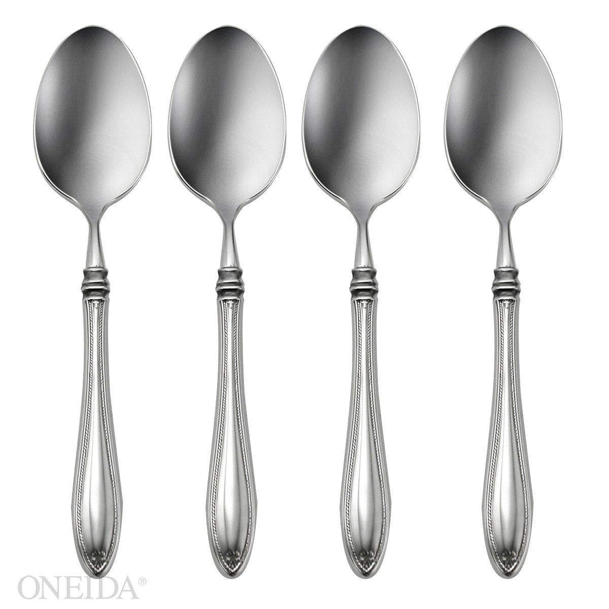 Oneida Sheraton Fine Flatware Set, 18/10 Stainless, Set of 4 Dinner Spoons