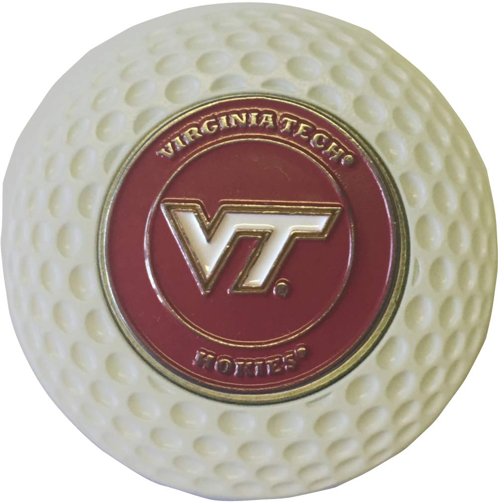 Virginia TECH Hokies ゴルフボールマーカー アクリル製 ゴルフ ポーカー チップギフト アイディア Acc   B07JMQ38KD