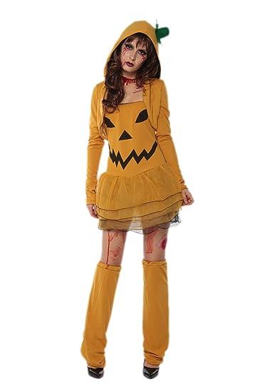 6bdc040157b Amazon.com: Pumpkin Costume Women - Halloween Sexy Adult Zombie ...
