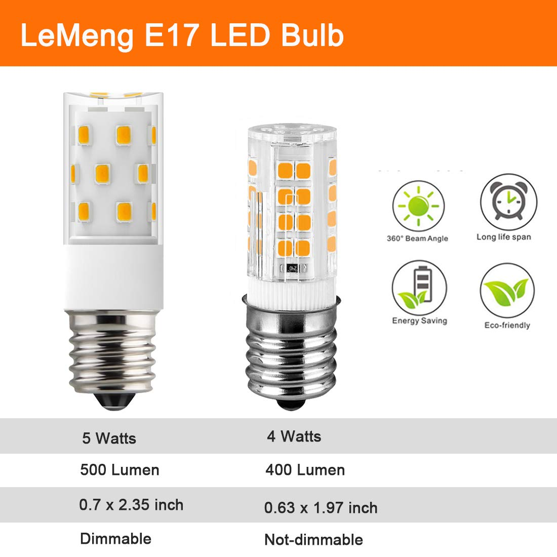 6 Pack LeMeng 120V BA15D led Bulb 4W 400lm Double Contact Bayonet Base 2700K Warm White 20W-35Watt Halogen Light Replacement for Sewing Machine Lamp Non-dimmable