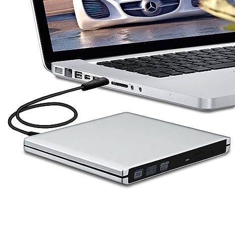 Externo USB 3.0 Unidad de DVD enootech aluminio Slim Portable Grabadora DVD Rewriter reproductor de CD