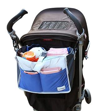 51ed5c114d Amazon.com : Universal Stroller Organizer Baby Pram Buggy Pushchair Diaper  Bag Hanging Storage Pouch Outdoor Cup Bottle Drinks Food Holder Organizer  Storage ...