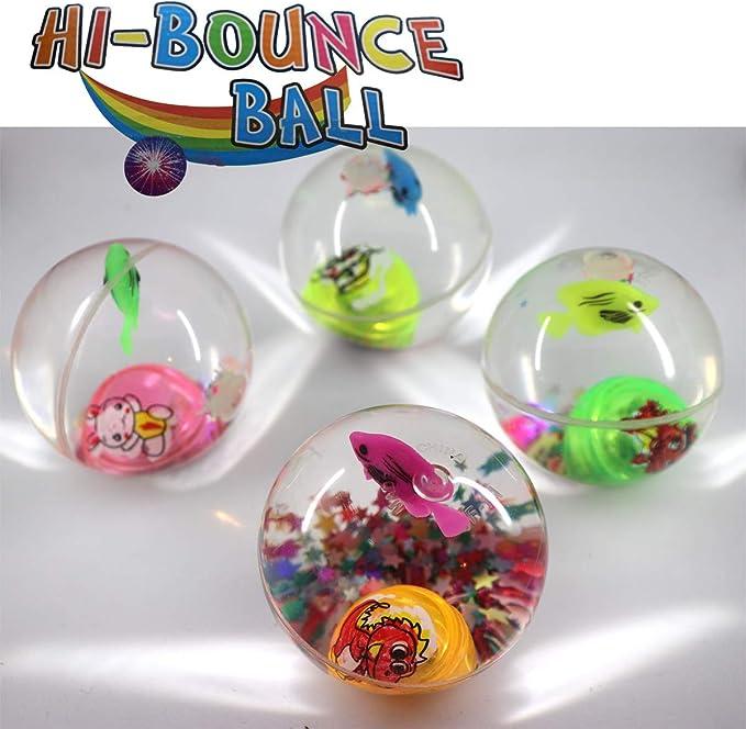 6 pelotas LED de goma con purpurina, tamaño XL, aprox. 60 mm, luz ...