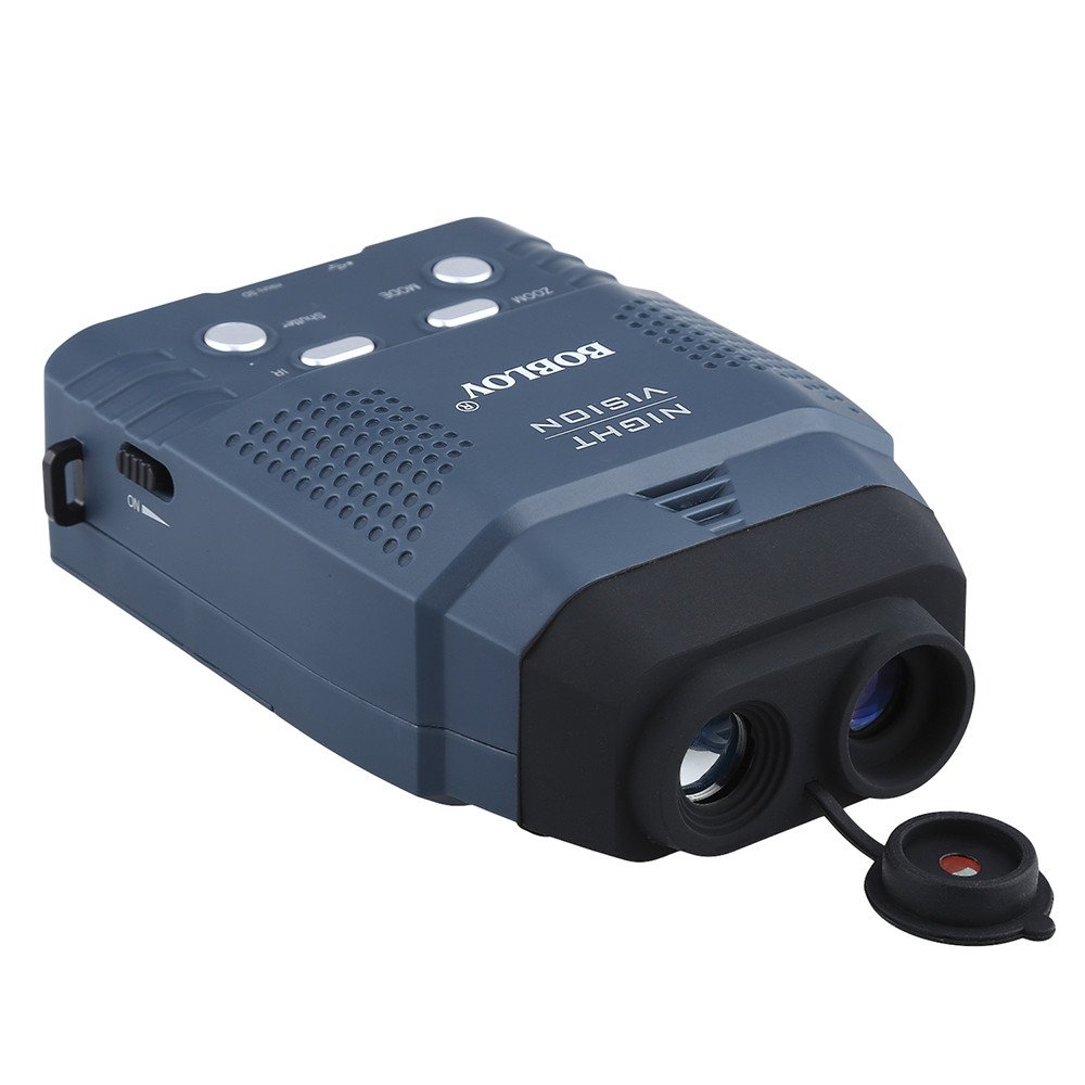 Portable Digital 2x IR Night Vision Monocular Blue Infrared Illuminator 100m Photo and Video Records Telescope Camera Camcorder DVR with 4GB Card For Surveillance