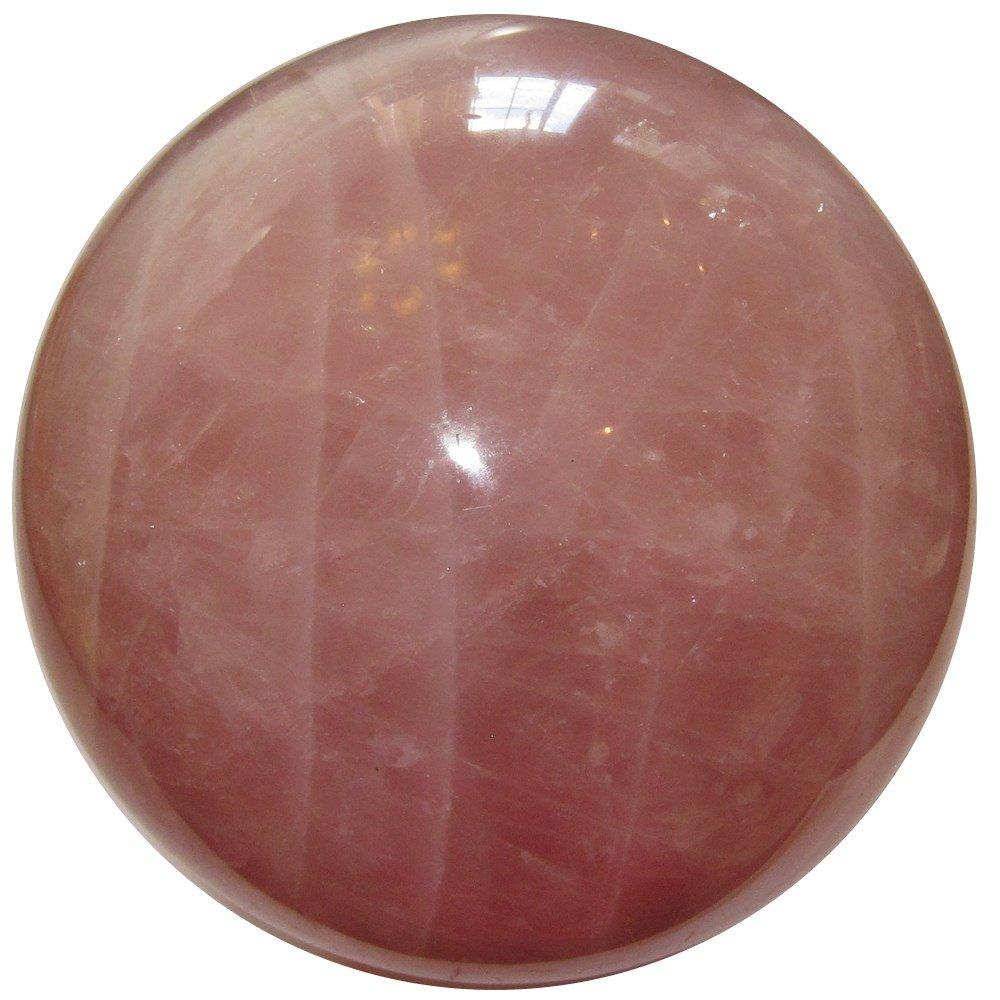 Rose Quartz Ball 45 Large Crystal Sphere Pink Stone Spiritual Eye Spirit Guard Gemstone 4.2'' by SatinCrystals (Image #3)