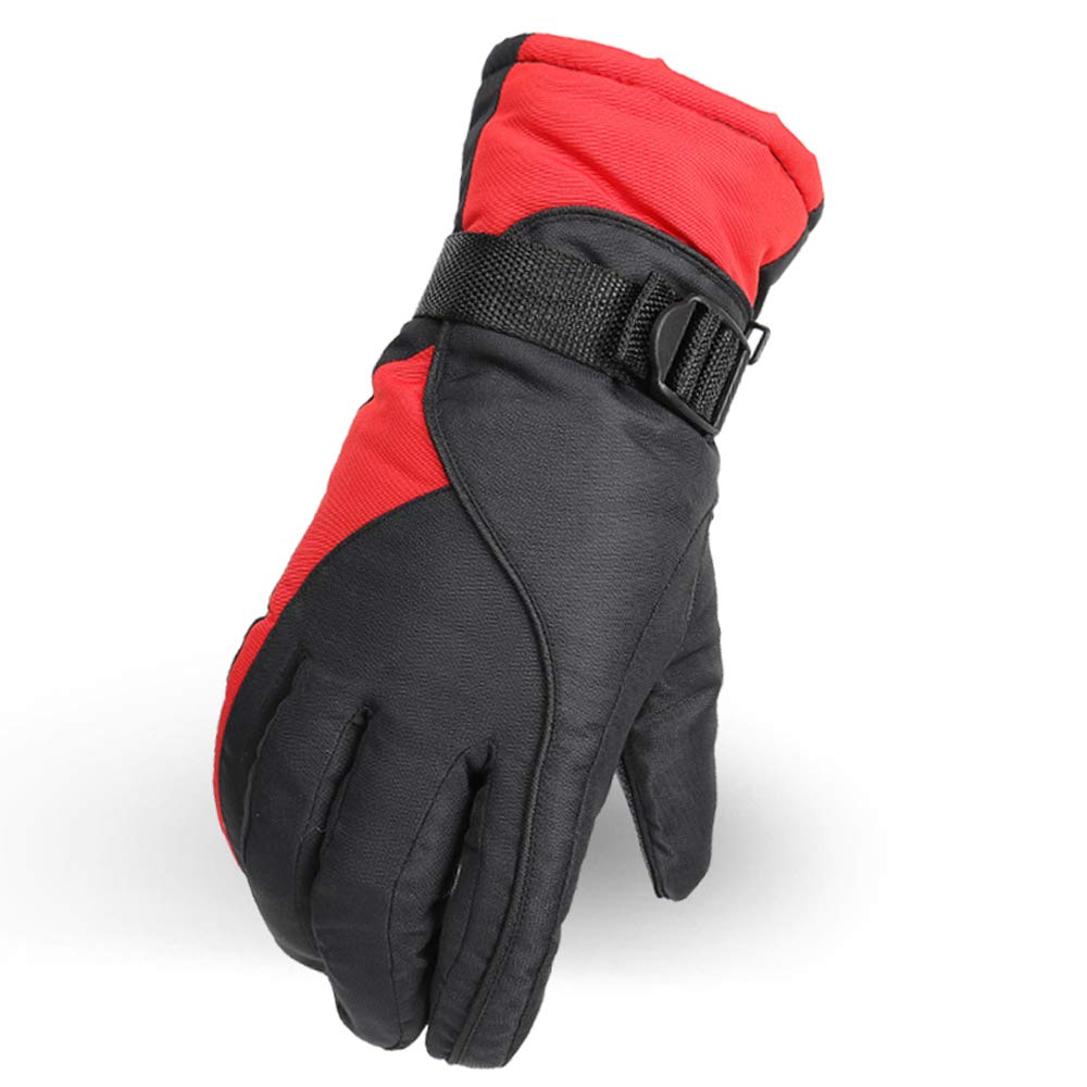 Outdoors Riding Gloves, Waterproof Snow Gloves Thermal Windproof Gloves for Snowboarding Motorcycling Cycling - Black