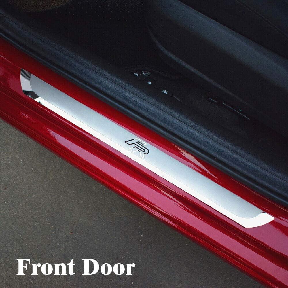 Für Seat Leon Arona Ateca Fr Stahl Einstiegsleisten Abschwellenschutz Schwellenabdeckung Verkleidung 4 Stück Mit Logo Ygaodwq Auto