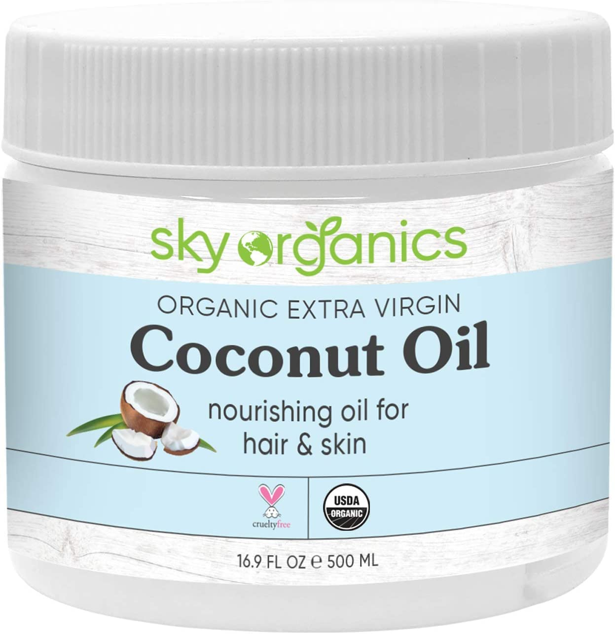 Sky Organics Coconut Body Oil 16oz