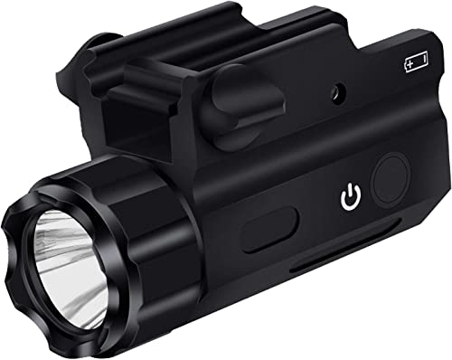 EZshoot Tactical Flashlight 250 Lumens Waterproof LED Rail-Mounted Pistol Light with Strobe Weaponlight for Weaver and Picatinny Rail