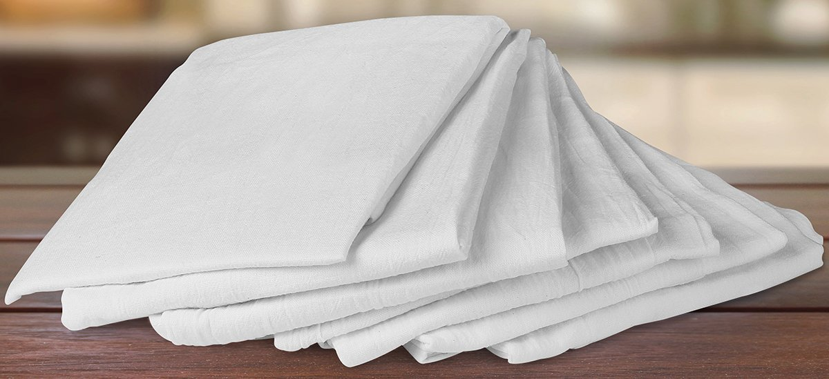 Sartenes de harina (12 paquetes - 71 x 71 centímetros) Toallas de cocina de tela de algodón puro - de Utopia Kitchen: Amazon.es: Hogar