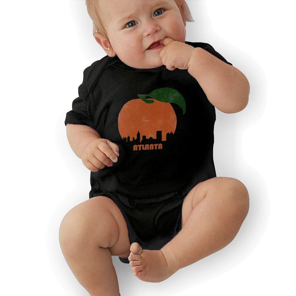 LANBRELLA Retro Atlanta Skyline Infant Babys Cotton Short Sleeves Playsuits Playsuit Bodysuit Clothes