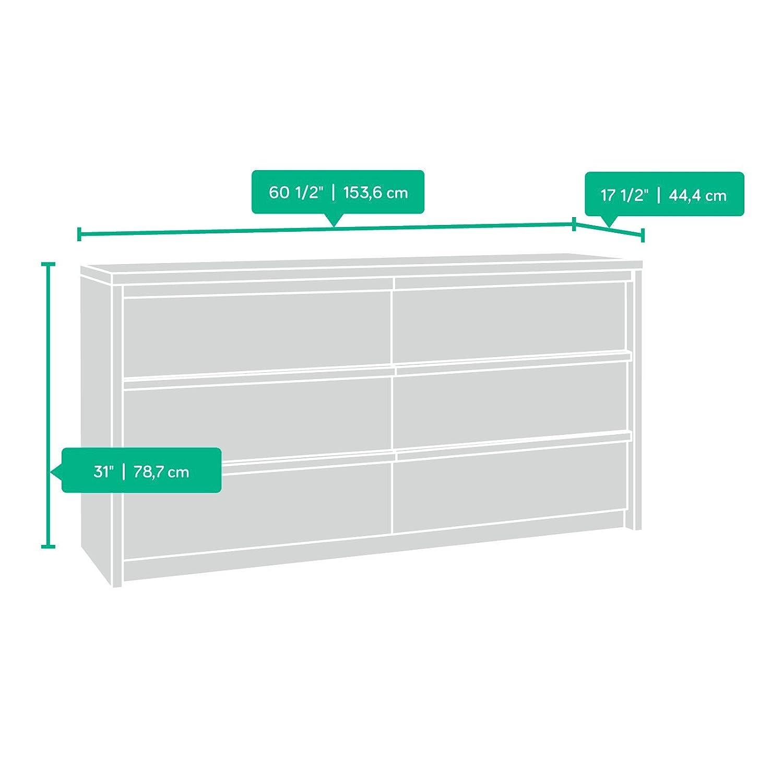 Amazon.com: Soft moderno 6 Cajón Dresser –) , color roble ...