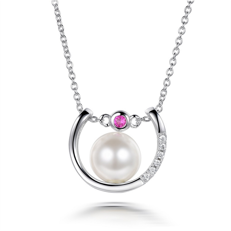 MMC Pearl Trendest Silver Pendants Necklaces