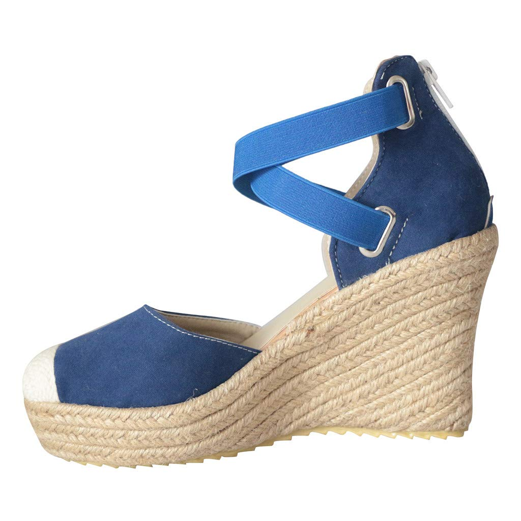 LUCAMORE Retro Fashion Womens Espadrilles Wedges Flats Shoes Platform Wedge Heel Sandals by LUCA-Sandals (Image #3)