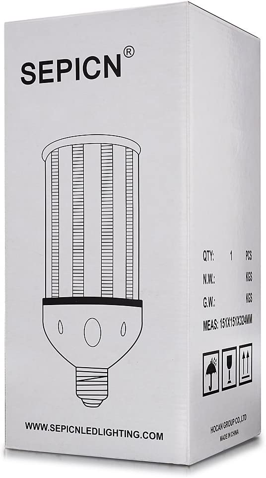 Medium E26 Base LED Replacement for Indoor//Outdoor Warehouse Garage Parking Lot High Bay Canopy ETL Listed 58W Led Corn Light 5000K Daylight LED Corn Bulb 250W Metal Halide//HPS 7830Lumen