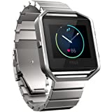 Fitbit Blaze Banda de Reloj, FOTOWELT de Lujo de Moda Stailess Acero Correa de Pulsera Banda de Reemplazo para Fitbit Blaze Smart Fitness Reloj - Plata
