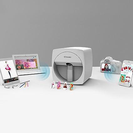 Amazon.com: O2nails Impresora de arte de uñas móvil digital ...