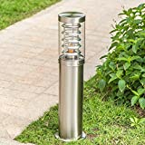 Modeen Continental Outdoor Stainless Steel Table Lamp Floor Lamp Simple Modern Grass Lawn Lamp LED Waterproof Acrylic Garden Lights Villa Street Post Lights E27 Decoration Illumination (Size : 45cm)