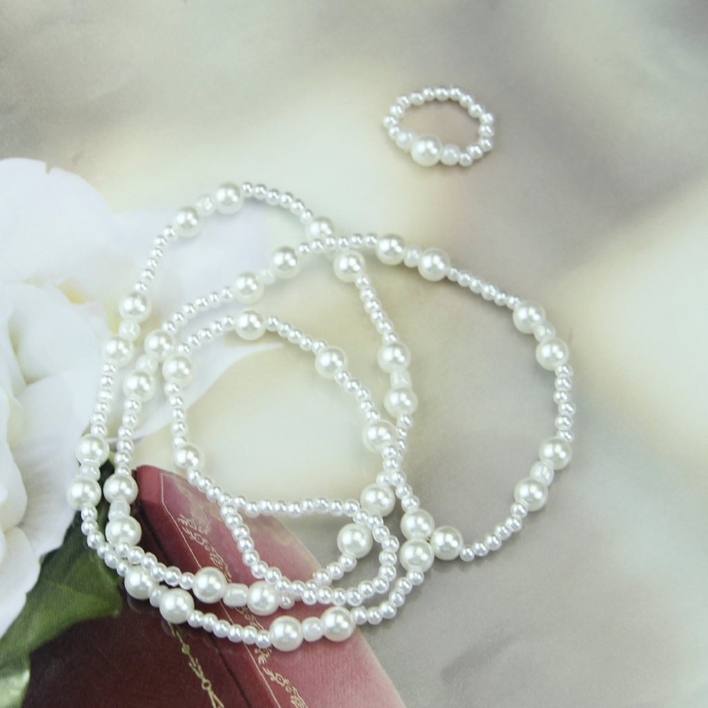 Fivekim Pulseras para Mujeres niñas Sexy Elegante arnés de Perlas ...
