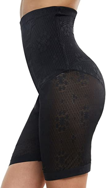 Franato Womens Lace High Waist Short Tummy Control Panty Shapewear