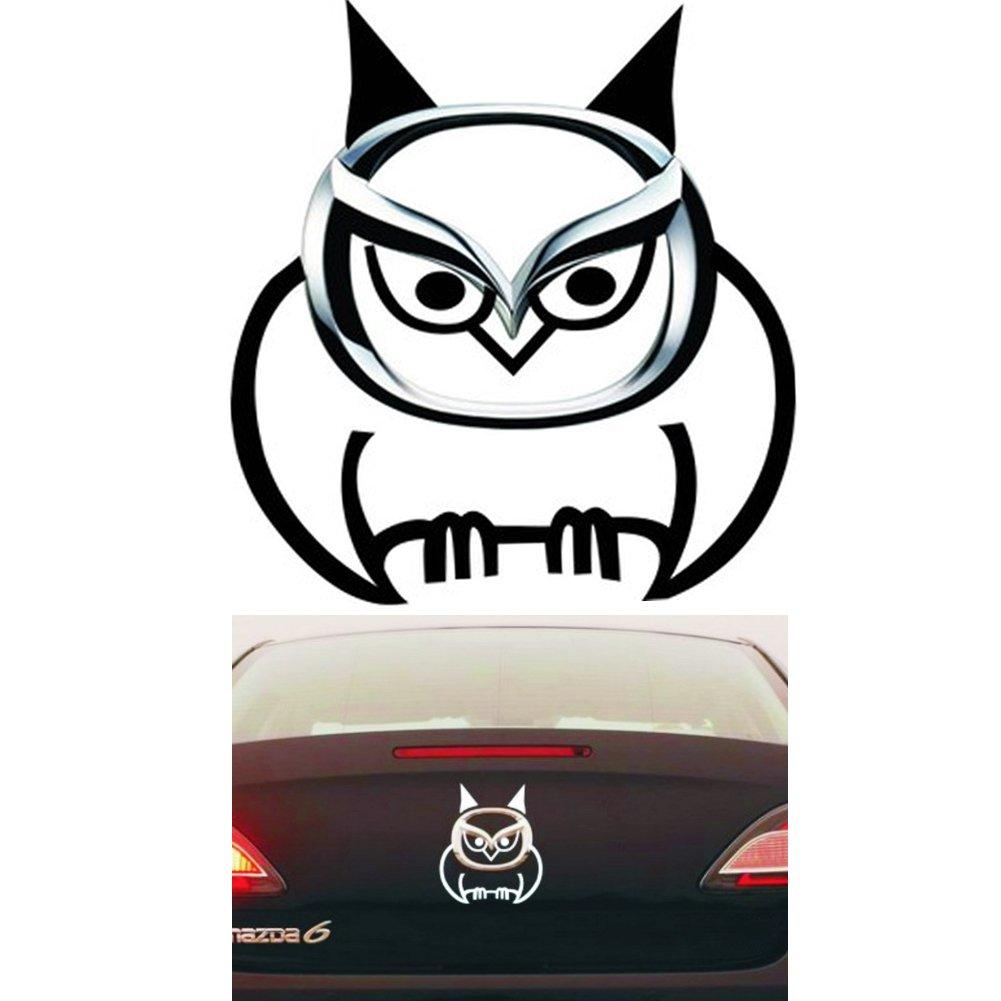 Moonse car owl logo badge stickers decals emblem symbol graphics for moonse car owl logo badge stickers decals emblem symbol graphics for mazda 3 5 6 amazon kitchen home biocorpaavc Choice Image