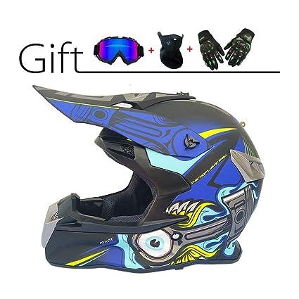 Amazon.es: MY1MEY Profesional Motocross Casco Casco de ...