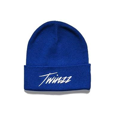 e822f57e3 Twinzz Lightning Script Beanie Hat Blue-One Size: Amazon.co.uk: Clothing