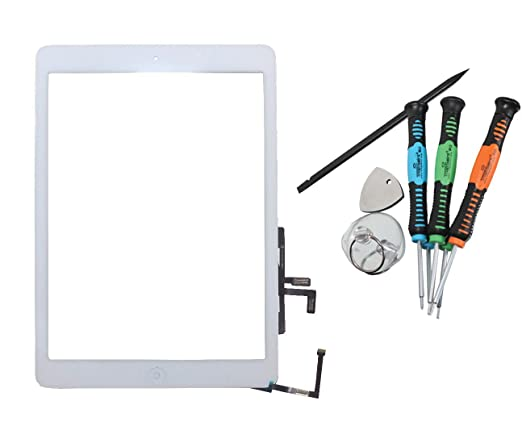 6 opinioni per Trop Saint® Vetro Touch Screen Bianco Per Apple iPad AIR 1 Tasto Home Biadesivo