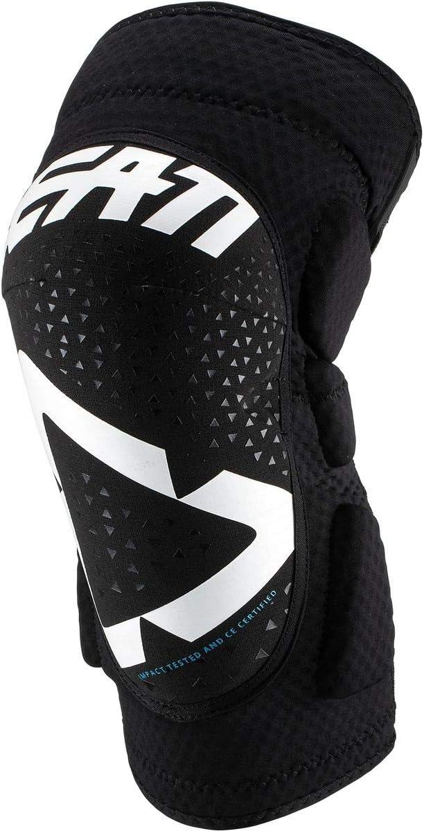 Leatt La 3DF 5.0 es una Rodillera Flexible y ventilada Completa Adaptada a la práctica de la Bicicleta de montaña, Rodilleras, Unisex, Color Blanco y Negro