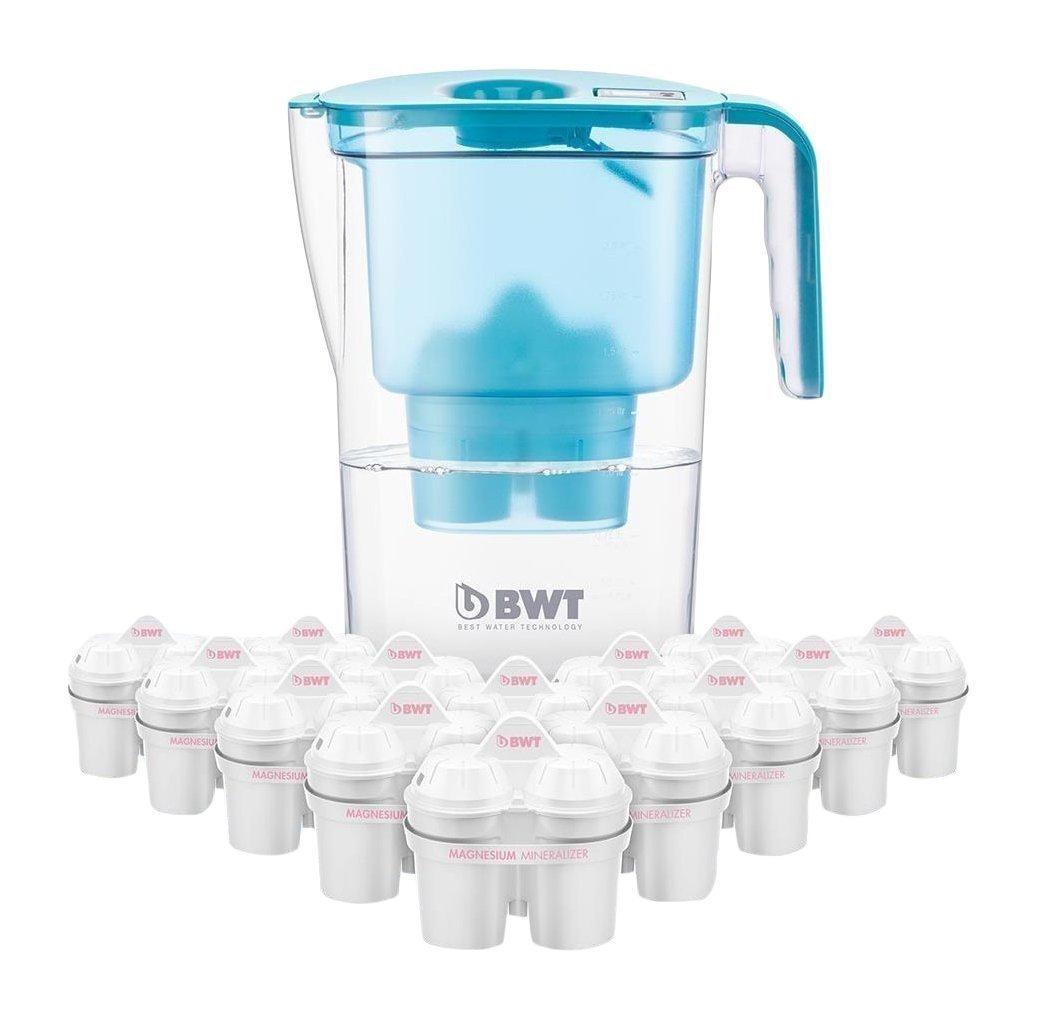 BWT Tischwasserfilter Vida 2, 6l Petrol Incl. Jahrespackung Ersatzkartuschen Magnesium Mineralizer