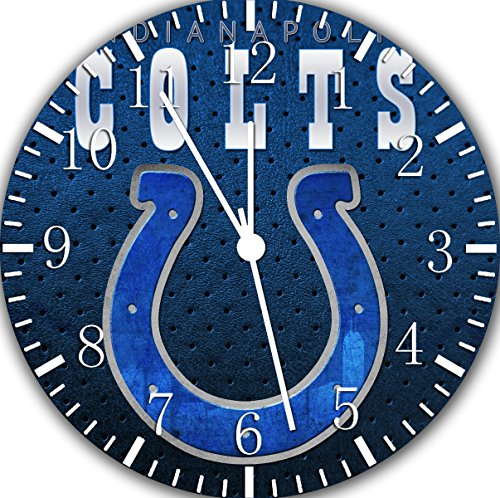 Colts Frameless Borderless Wall Clock F56 Nice for Gift or Room Wall Decor]()
