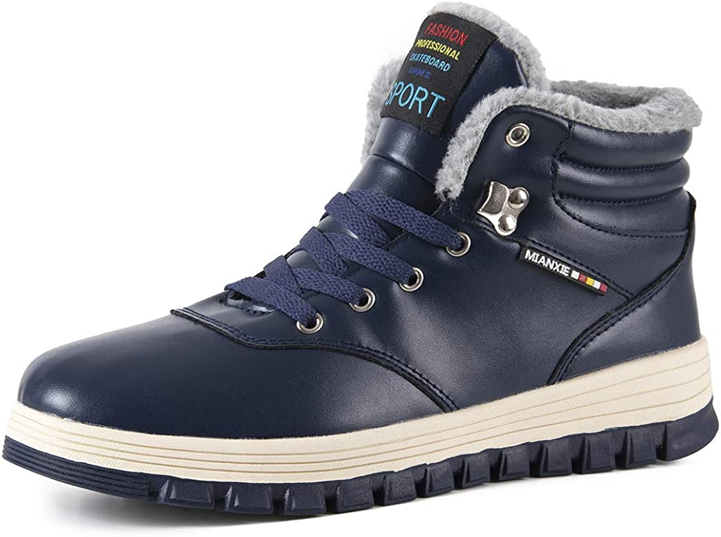 Mens Snow Boots Winter Waterproof Shoes