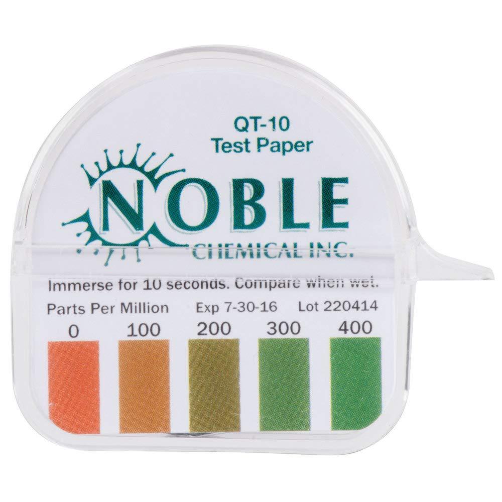 Noble Chemical QT-10 Quaternary Test Paper Dispenser - 0-400ppm | 10 Kits
