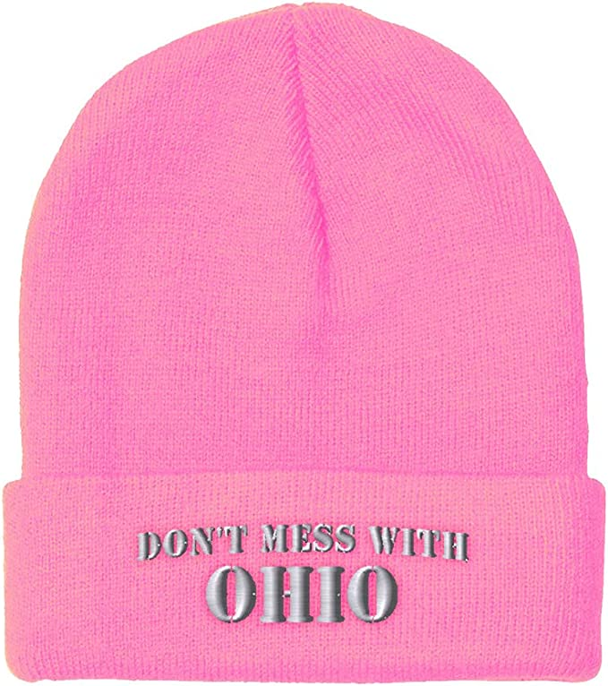 Pink Ohio state beanie for girls