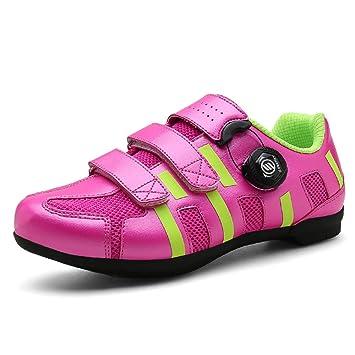 Zapatillas de Ciclismo para Hombre, Zapatillas de Ciclismo de Carretera Transpirables Zapatillas de Ciclismo para Exteriores Antideslizantes, ...