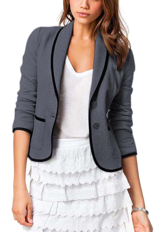 Vepodrau Women Balzer ButtonDown SlimFitOffice JacketSuit Pockets CACYDD19