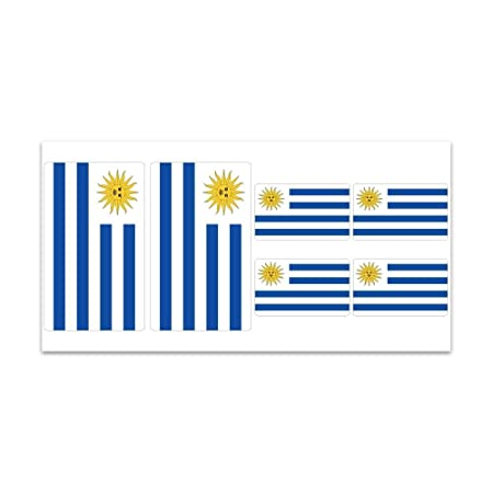 Uruguay flag sticker sheet z314