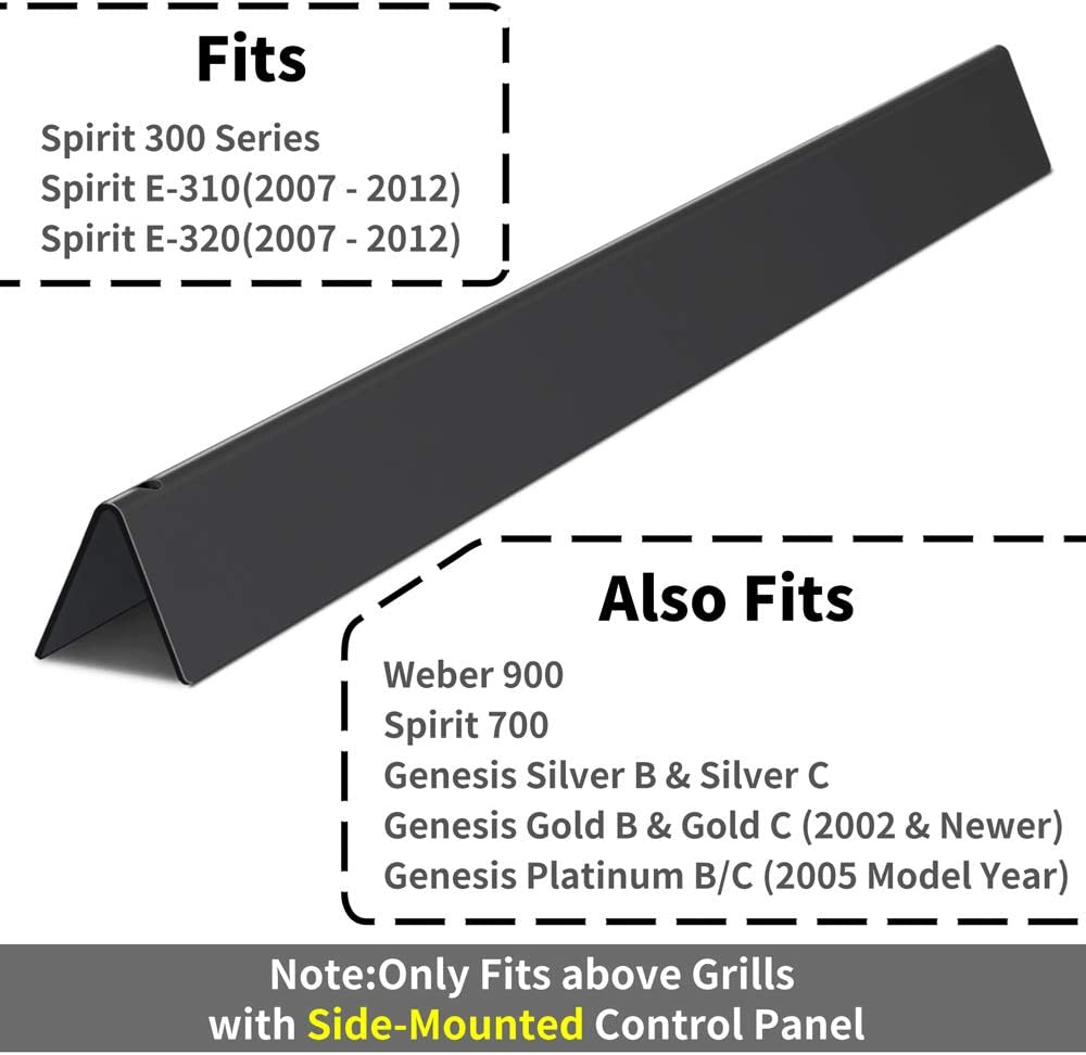 X Home 7536 22.5 inch Flavorizer Bars for Weber Spirit 300 Series, Spirit E310, E320, Genesis Silver & Gold B C, Sturdy Porcelain Steel Replacement Grill Parts : Garden & Outdoor