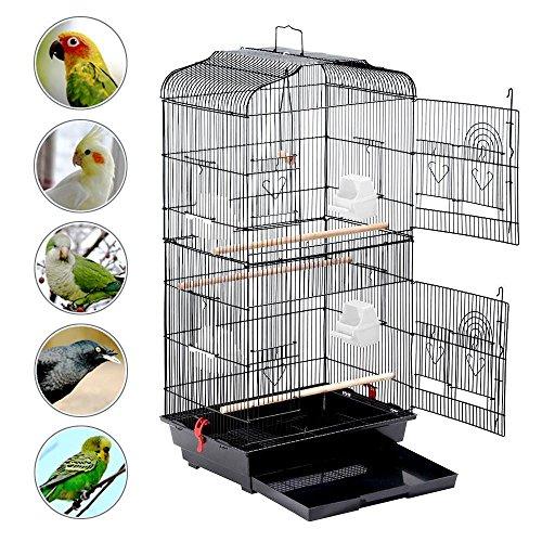 Yaheetech 59.3'' Rolling Bird Cage Parakeet...
