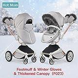 Hot Mom Kombikinderwagen 3 in 1 mit Buggy und Babywanne 2018 neues Design, Baby Autoschale separate erhältlich