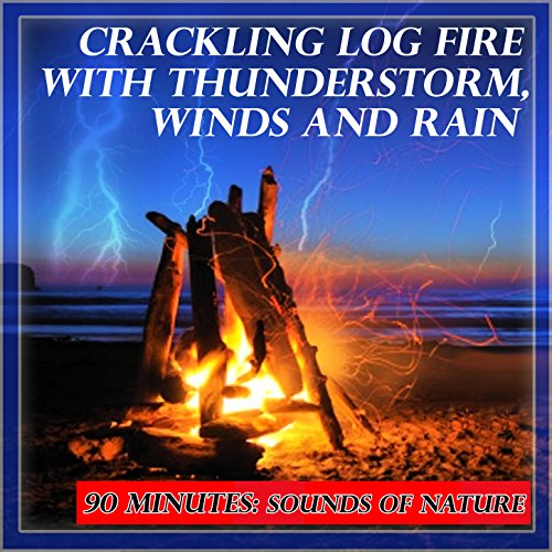 Natural Sounds: Crackling Log Fire with Thunderstorm, Winds and - Log Natural