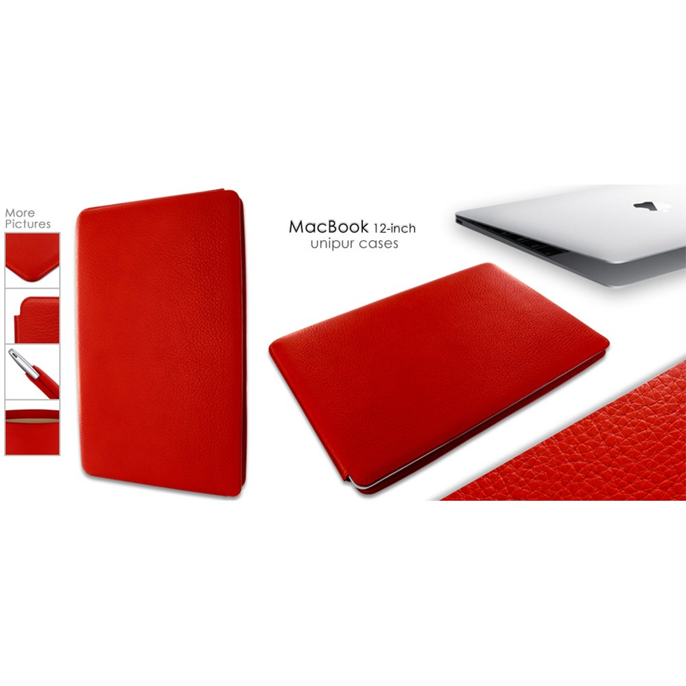 Piel Frama Leather Pouch for Apple MacBook 12, Red (718R)