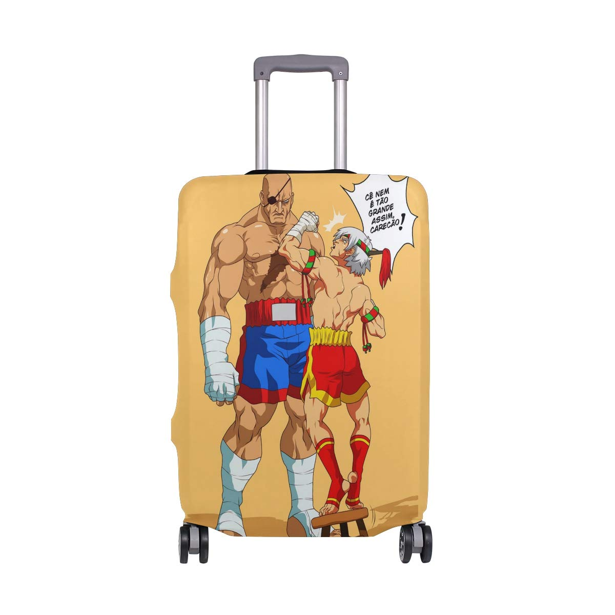 Street Fighter Sagat Xyan Travel Luggage Cover Suitcase Protector Fits 26-28 Inch Washable Baggage Covers